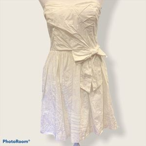 Lilly Pulitzer White Strapless Dress Size M